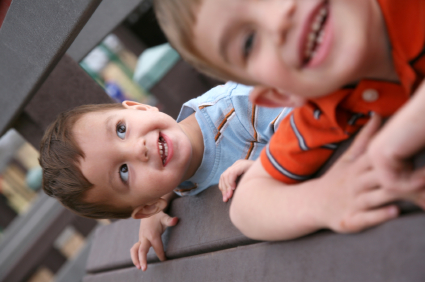 Image: Two little boys smiling